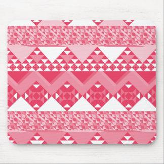 Modelo azteca tribal rosado femenino tapete de ratón