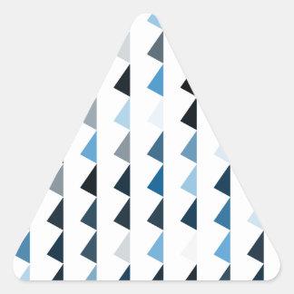 modelo azul 04 de la pirámide pegatina triangular