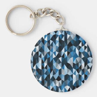 modelo azul 07 de la pirámide llavero redondo tipo pin