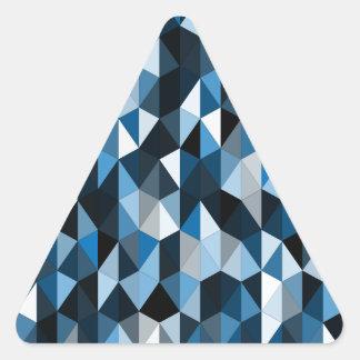 modelo azul 07 de la pirámide pegatina triangular
