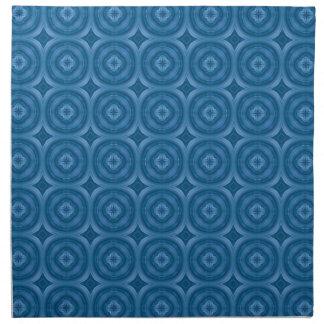 Modelo azul abstracto con la flor de madera servilletas