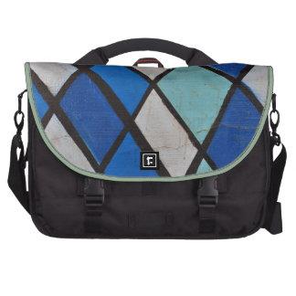 modelo azul abstracto de las formas bolsas para ordenador