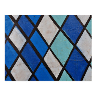 modelo azul abstracto de las formas tarjeta postal