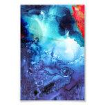 Modelo azul abstracto del batik fotografias