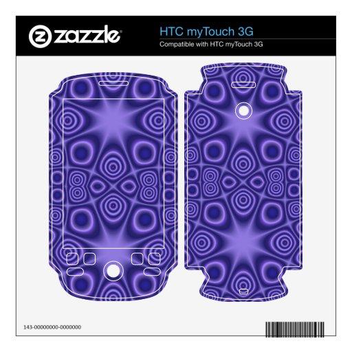 modelo azul abstracto calcomanía para HTC myTouch 3G