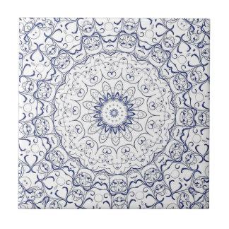 Modelo azul adornado complejo complejo del cordón azulejo cuadrado pequeño