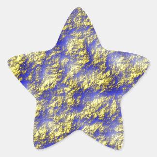 Modelo azul amarillo blue pattern yellow pegatina en forma de estrella