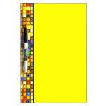 Modelo azul amarillo y fresco abrasador de las pizarras