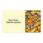 Modelo azul amarillo y fresco abrasador de las plantilla de tarjeta de negocio