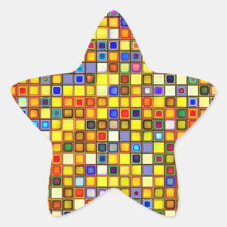 Modelo azul amarillo y fresco abrasador de las tej colcomanias forma de estrellaes