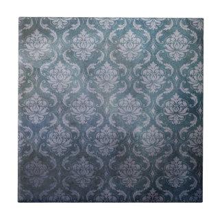 Modelo azul antiguo del papel pintado azulejo cuadrado pequeño