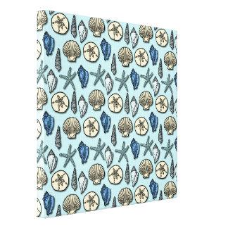 Modelo azul bonito del mar de las estrellas de mar impresión en lona