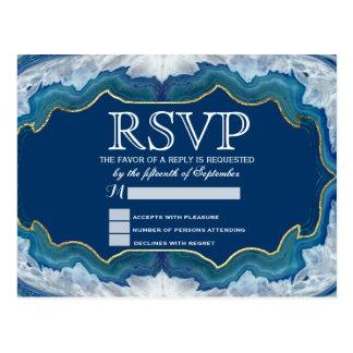 Modelo azul bonito elegante de Geode del trullo de Tarjetas Postales
