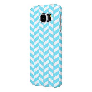 Modelo azul brillante blanco de la MOD del verano Funda Samsung Galaxy S6