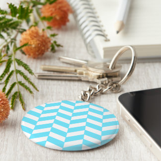 Modelo azul brillante blanco de la MOD del verano Llavero Redondo Tipo Pin