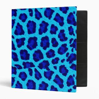 """Modelo azul brillante del animal del estampado carpeta 1"""""""