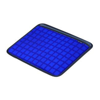 Modelo azul brillante del enrejado fundas macbook air