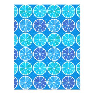 "Modelo azul claro de la fruta cítrica folleto 8.5"" x 11"""