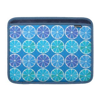 Modelo azul claro de la fruta cítrica fundas para macbook air