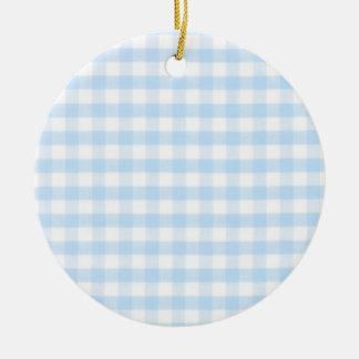 Modelo azul claro de la guinga adorno redondo de cerámica