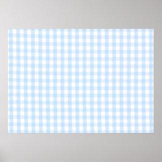 Modelo azul claro de la guinga posters