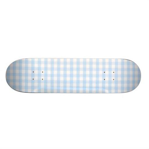 Modelo azul claro de la guinga patin