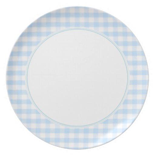 Modelo azul claro de la guinga platos