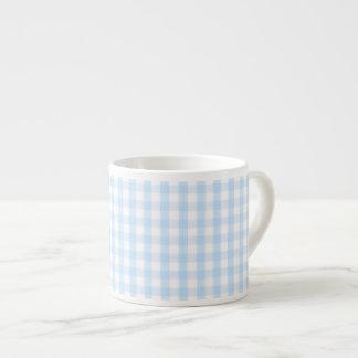 Modelo azul claro de la guinga tazas espresso