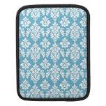 Modelo azul claro del damasco del vintage fundas para iPads