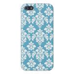 Modelo azul claro del damasco del vintage iPhone 5 coberturas