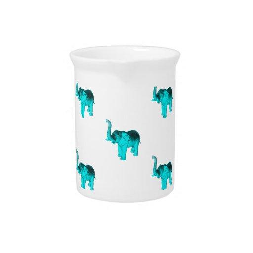 Modelo azul claro del elefante jarra