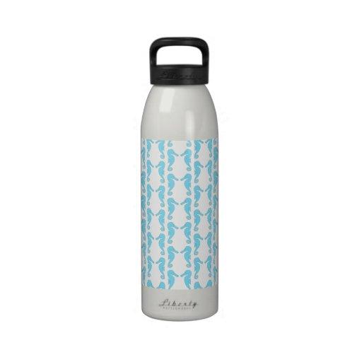 Modelo azul claro del Seahorse Botella De Beber