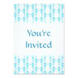 Modelo azul claro del Seahorse Invitación 12,7 X 17,8 Cm