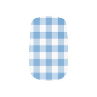 Modelo azul claro y blanco de la guinga arte para uñas