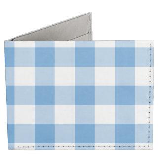 Modelo azul claro y blanco de la guinga billeteras tyvek®
