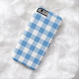 Modelo azul claro y blanco de la guinga funda barely there iPhone 6