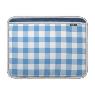 Modelo azul claro y blanco de la guinga funda  MacBook