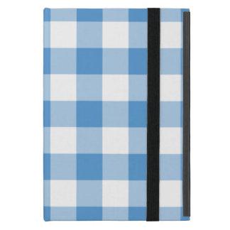 Modelo azul claro y blanco de la guinga iPad mini coberturas