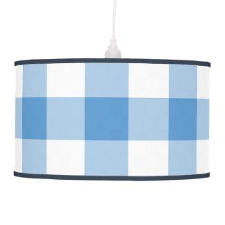 Modelo azul claro y blanco de la guinga lámpara de techo
