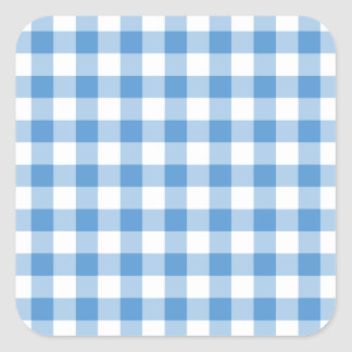 Modelo azul claro y blanco de la guinga pegatina cuadrada