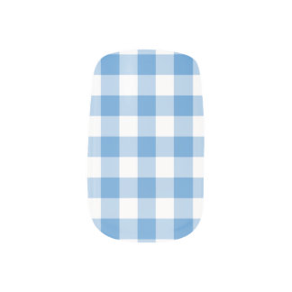 Modelo azul claro y blanco de la guinga stickers para manicura