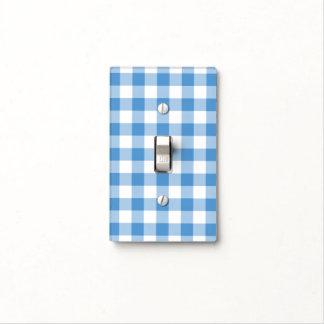 Modelo azul claro y blanco de la guinga placas para interruptor