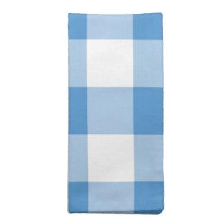 Modelo azul claro y blanco de la guinga servilleta de papel