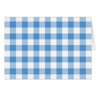 Modelo azul claro y blanco de la guinga tarjeta de felicitación