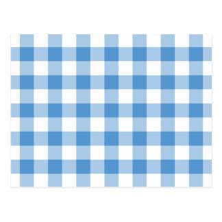 Modelo azul claro y blanco de la guinga tarjeta postal