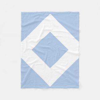 Modelo azul claro y blanco del diamante