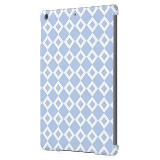 Modelo azul claro y blanco del diamante funda para iPad air