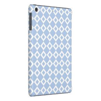 Modelo azul claro y blanco del diamante fundas de iPad mini