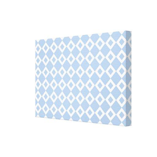 Modelo azul claro y blanco del diamante impresion en lona