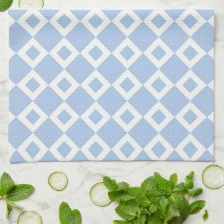 Modelo azul claro y blanco del diamante toallas